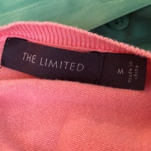 The Limited Sweaters - The Limited apricot ruffle cardigan